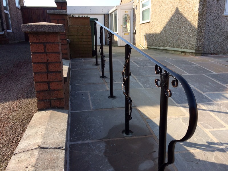 handrail made from wrought iron